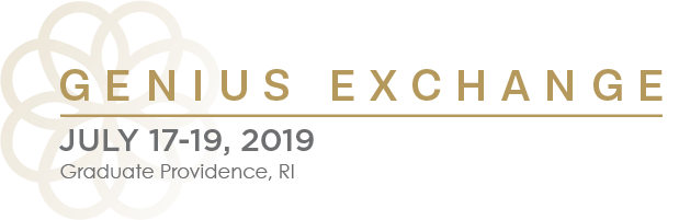 Genius Exchange | July 17-19, 2019 | Graduate Providence, RI